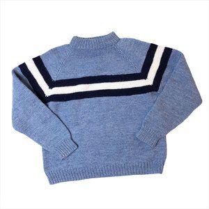 vintage mockneck blue sweater